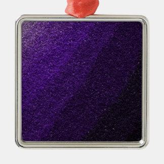 紫色のグリッターの破片 メタルオーナメント