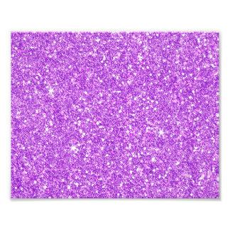 紫色のグリッターの贅沢のダイヤモンド フォトプリント