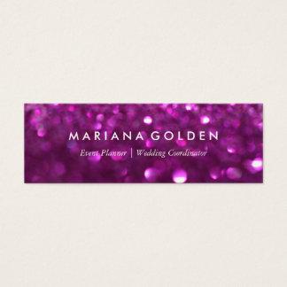紫色のグリッターの輝きの《写真》ぼけ味の名刺 スキニー名刺