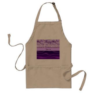 紫色のグリッター及び波状の砂 スタンダードエプロン