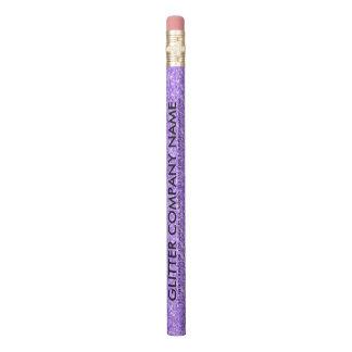 紫色のグリッター及び輝き 鉛筆