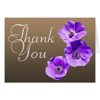 紫色のケシのカラフルな写真のシックな花柄は感謝していしています ノートカード