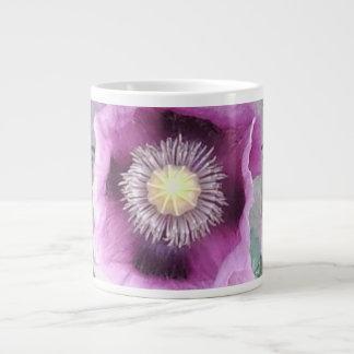 紫色のケシのマグ1 ジャンボコーヒーマグカップ