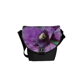 紫色のケシ/バイオレット メッセンジャーバッグ