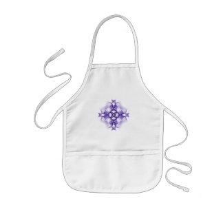 紫色のケルト十字 子供用エプロン