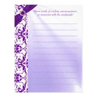 紫色のゲストブックの紙 レターヘッド
