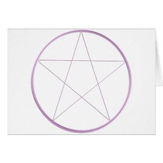 紫色のゲルの星形五角形 カード