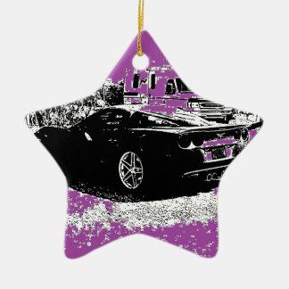紫色のコルベット セラミックオーナメント