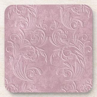 紫色のコースターでかわいらしい コースター