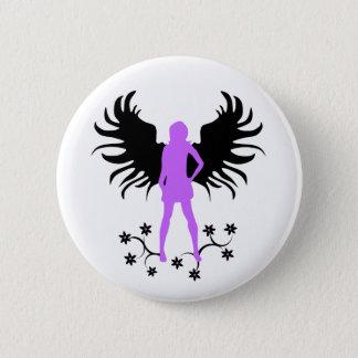 紫色のゴシックの天使ボタン 5.7CM 丸型バッジ