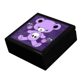 紫色のゴシック様式テディー・ベア ギフトボックス