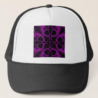 紫色のゴシック様式ハートのフラクタル キャップ