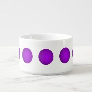紫色のゴルフボール チリボウル