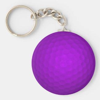 紫色のゴルフ・ボール キーホルダー
