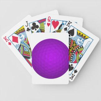紫色のゴルフ・ボール バイスクルトランプ