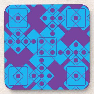 紫色のサイコロ コースター