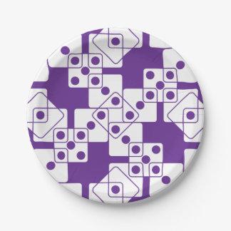 紫色のサイコロ ペーパープレート