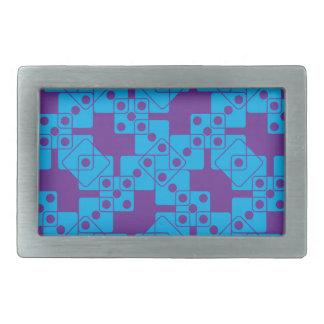 紫色のサイコロ 長方形ベルトバックル