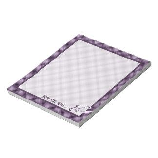 紫色のサクソフォーン ノートパッド