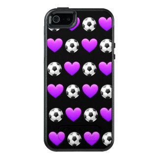 紫色のサッカーボールのOtterboxの場合のiPhone SE/5 オッターボックスiPhone SE/5/5s ケース