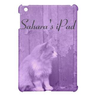 紫色のサハラ砂漠(猫)の*customizable*のiPadの箱 iPad Mini カバー