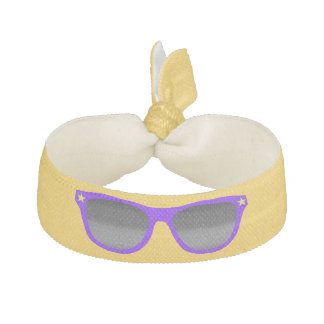 紫色のサングラスの毛バンド ヘアタイ