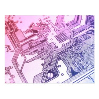 紫色のサーキットボード ポストカード
