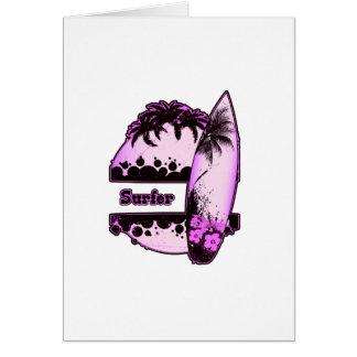 紫色のサーファー カード