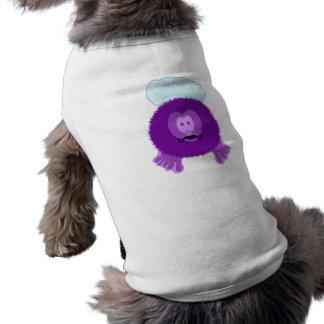 紫色のシェフのPom Pomの友達犬のティー ペット服