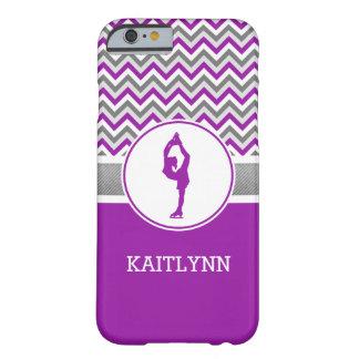 紫色のシェブロンのフィギュアスケート選手のiPhone6ケース Barely There iPhone 6 ケース