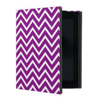 紫色のシェブロンのiPadの箱 iPad ケース