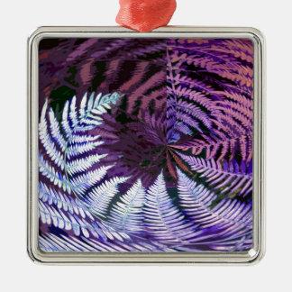 紫色のシダ メタルオーナメント