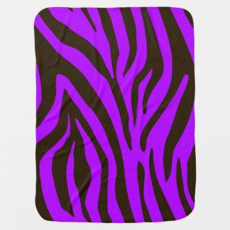 紫色のシマウマのアニマルプリントパターン ベビー ブランケット