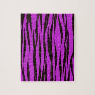 紫色のシマウマのプリントのデザイン ジグソーパズル