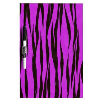 紫色のシマウマのプリントのデザイン ホワイトボード