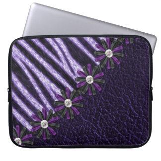 紫色のシマウマのラップトップスリーブ ラップトップスリーブ