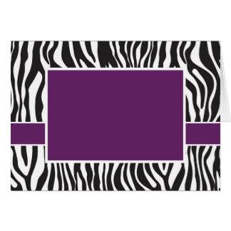 紫色のシマウマの招待 カード