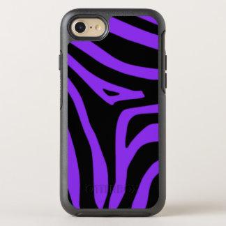 紫色のシマウマ オッターボックスシンメトリーiPhone 8/7 ケース