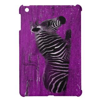 紫色のシマウマ iPad MINI CASE