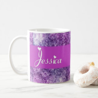 紫色のジェシカ コーヒーマグカップ