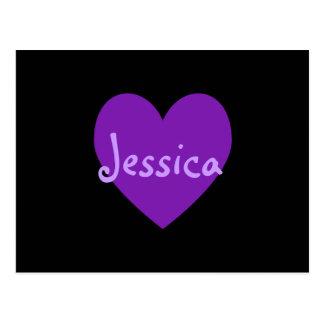 紫色のジェシカ ポストカード