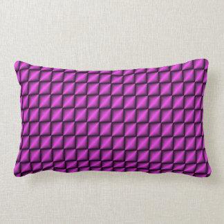 紫色のジグザグ形の枕 ランバークッション