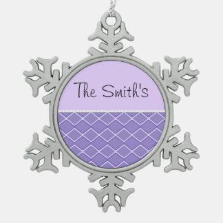 紫色のジグザグ形 スノーフレークピューターオーナメント