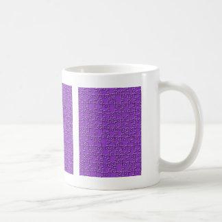 紫色のジグソーパズル コーヒーマグカップ