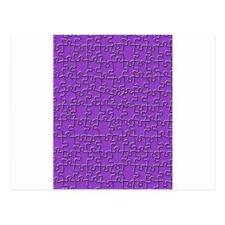 紫色のジグソーパズル ポストカード