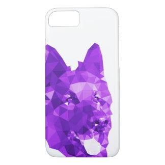 紫色のジャーマン・シェパードの低い多芸術 iPhone 8/7ケース