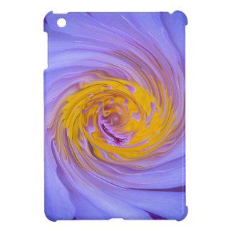 紫色のスイレンの回転のデザイン iPad MINIカバー