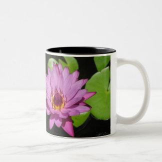 紫色のスイレン ツートーンマグカップ