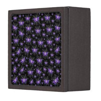 紫色のスカルのくもの巣 ギフトボックス