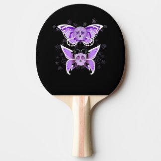 紫色のスカル 卓球ラケット